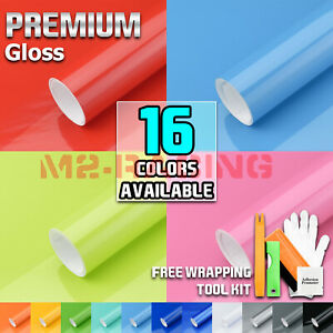 Gloss Glossy Vinyl Car Laptop Auto Wrap Sticker Decal Bubble Free Air Release