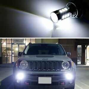 2 6500k White Led Daytime Running Light Bulbs For 2015 Up Jeep Renegade