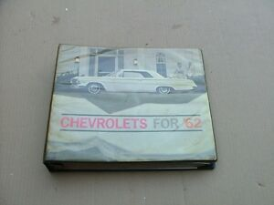 1962 Chevy Car Selector Dealer Sales Album Color Options And Upholstery