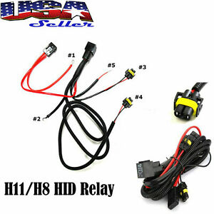 H11 880 Relay Wiring Harness For Hid Conversion Kit Add on Fog Lights Led Drl