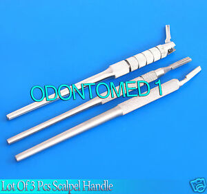 Lot Of 3 dental Instruments Scalpel Handle Adjustable angled surgery Instrument