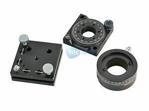 Melles Griot Optical Laser Lens Mount Positioner Rotary Tran Stage Lot Of 3