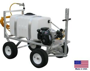 Sprayer Commercial Trailer Mounted 50 Gallon Tank 5 Gpm 275 Psi