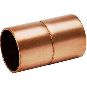 bag Of 25 1 2 Copper Coupling With Rolled Stop Cxc