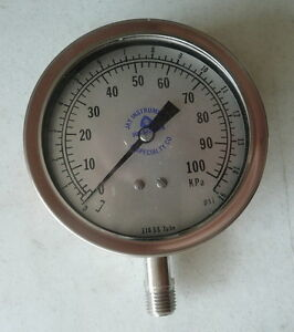 New Ashcroft 3 5 Pressure Gauge Model 351009sw 02l 0 To 15 Psi 1 4 npt