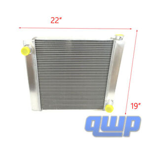 For Chevy Gm Aluminum Universal Racing Radiator 2 Row Single Pass 22 X 19 X 3