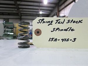 Storm Vulcan 15a Spring Tail Stock Spindle 15a 415 3