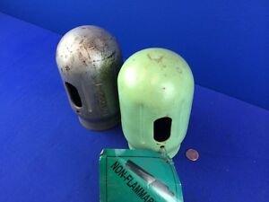 Lot Of 2 Acetylene Tank Steel Cover Threaded Cap