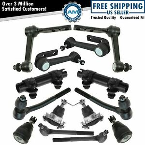 12 Piece Kit Front Lh Rh Idler Arms Tie Rods Ball Joints For Astro Safari