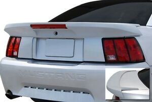 For Ford Mustang Painted saleen style Long W light Rear Spoiler Wing 1999 2004