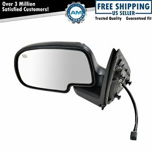 Chrome Heated Power Side View Mirror Driver Left Lh For Chevy Gmc Pickup Truck