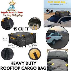Highland Expandable Car Top Roof Bag Luggage Cargo Carrier Weather Resistant Box