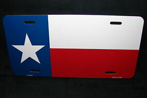 Texas State Flag Metal Novelty License Plate Tag For Cars