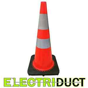 28 Pvc Traffic Cones With Safety Road Reflective Collar 10 Pack Orange