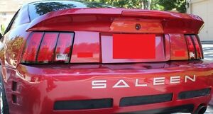 For Ford Mustang Pre painted saleen style Short W light Rear Spoiler 1999 2004