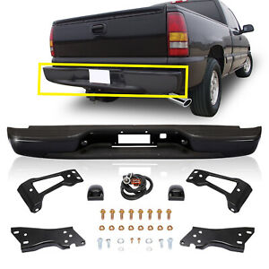 Rear Step Bumper Assembly Steel Fits 99 07 Silverado Sierra 1500 W bracket bolts