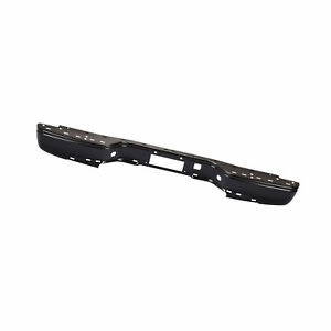 Rear All Black Step Bumper Fit 99 07 Silverado Sierra Without Sensor Hole New