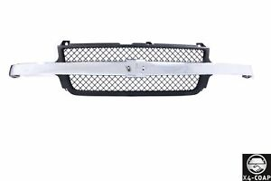 Chrome Black Grille For Chevrolet Silverado 2500 3500 Gm1200523 15088290 New