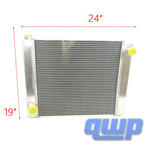 New Universal Fabricated Aluminum Racing Radiator For Ford Mopar 24 X19 X3