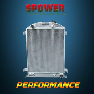 3 row core Aluminum Radiator For Ford Grill Shells Hi boy Chevy Engine 32 62mm