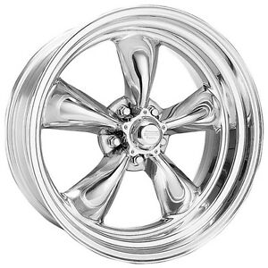4 15 Inch 15x7 Torq Thrust Ii Polished Rims Early Chevy 5x4 75 W Lugs Vn5155761
