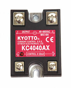 10pc Kyotto Current Control Ssr Kc4040ax Dcin 4 20ma Acout 48 480vac 40a Taiwan