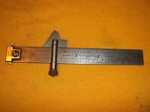 Vintage Starrett No 22 Drill Point Gage No 600 Tempered Steel Rule Double Hook