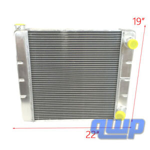 For Chevy Gm Universal Racing Aluminum 2 Row Double Pass Radiator 22 X19 X3