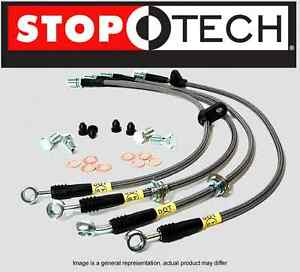 front Rear Set Stoptech Stainless Steel Brake Lines hose Stl27872 ss