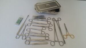 Canine Spay Pack 19 Instruments box German Stainless Steel Ce Veterinary