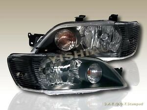 2002 2003 Mitsubishi Lancer Es ls Black Headlights New