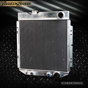 62mm Aluminum Racing Radiator For 64 66 Ford Mustang Shelby V8 L6 Mt At