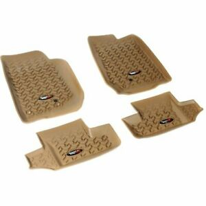Rugged Ridge Floor Mats Front New Tan Jeep Wrangler 2007 2016 13987 03
