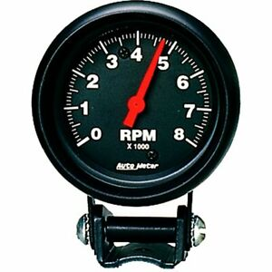 Autometer Performance Series Mini Tachometer 0 8 000 2 5 8 Dia Black Face 2892