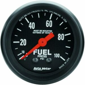 Autometer Fuel Pressure Gauge Gas New 2612