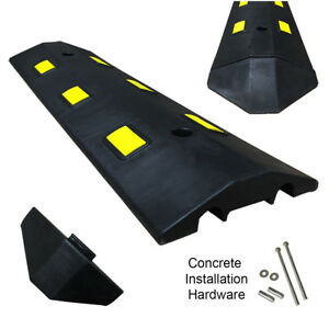 3ft Concrete Light Weight Speed Bump Traffic Road Safety Control Black