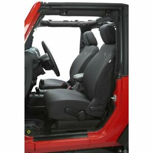 Bestop Set Of 2 Seat Covers Front New Black For Jeep Wrangler 29280 35
