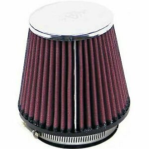 K n Air Filter Element Filtercharger Conical Cotton Gauze Red 3 125 Dia Inlet