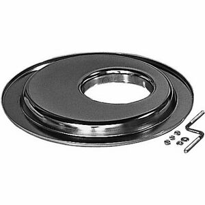 Trans dapt Air Cleaner Base Plate Steel Chrome 14 Dia 5 1 8 Inlet Raised 3 4