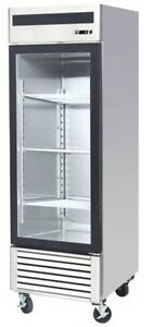 Atosa 1 door glass Merchandiser Freezer Brand New Mcf8701 Ships Free