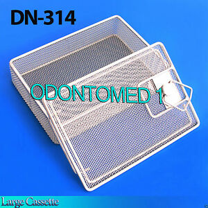 Sterilization Cassette Tray With Lock 8 5 X6 X1 75 Perforated Mesh Box Dn 314