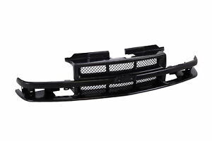Black Grille With Molding Trim Fits For 98 04 Chevy S10 Blazer Pickup Xtreme