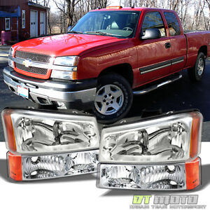 2003 2006 Chevy Silverado 1500 2500 Headlights Bumper Signal Lamps Left Right
