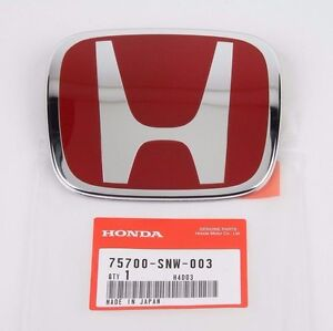 Honda Civic Si Front Rear Emblem Jdm Fd2 H Red Genuine New 06 14 Badge Type R