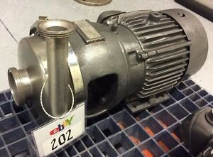 Apv Crepaco 8v Stainless Steel Centrifugal Pump 3 X 1 1 2 Bevel Seat In out