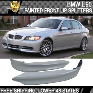 Fits 05 08 Bmw E90 Oe Style Front Lip Splitter Pp Painted Alpine White Iii