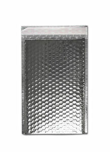 Sliver Metallic Bubble Mailers 16 X 17 5 Padded Envelopes 50 Pieces Per Case