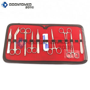 Odm Basic Dissecting Kit Veterinary Surgical Instruments Ds 1288