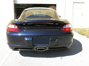 For Porsche Cayman Cayman S Primered Lighted Rear Spoiler Wing For 2006 2010