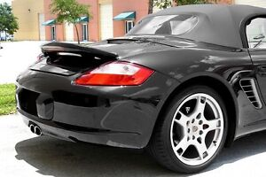 For Porsche Boxster Boxster S Primered Lighted Rear Spoiler Wing For 2005 2011